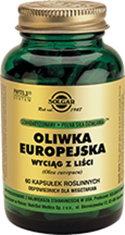 SOLGAR Oliwka Europejska x 60 kapsułek