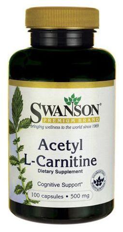 SWANSON Acetyl L-Carnitine 500mg x 100 kapsułek
