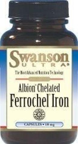 SWANSON Albion Chelat Żelaza Ferrochel 18mg x 180 kapsułek