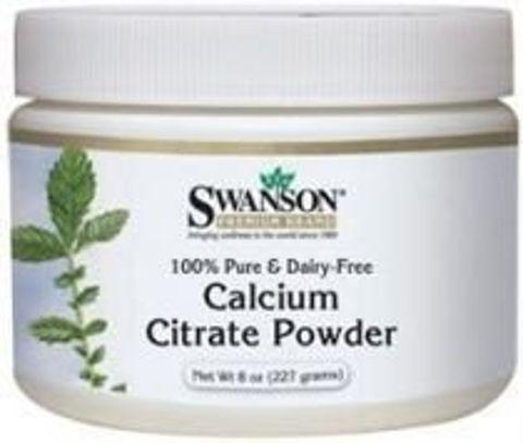 SWANSON Cytrynian wapnia 100% czystości 227g