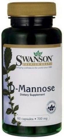 SWANSON D-mannoza 700mg x 60 kapsułek