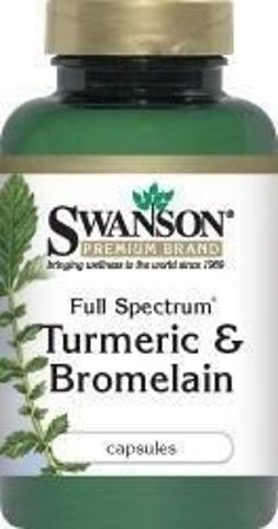SWANSON Full Spectrum Turmeric & Bromelain x 60 kapsułek
