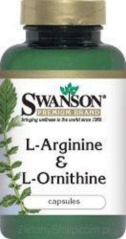 SWANSON L-Arginina & L-Ornityna x 90 kapsułek