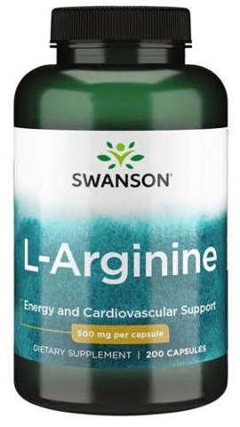 SWANSON L-arginina 500mg x 200 kapsułek