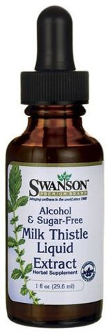 SWANSON Milk Thistle Liquid Extract (Ostropest plamisty) 29,6ml