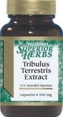 SWANSON Tribulus Terrestris extract 500mg x 60 kapsułek