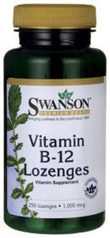 SWANSON Vitamin B-12 1000mcg x 250 tabletek do ssania