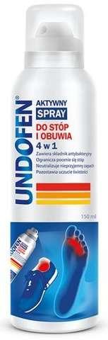 UNDOFEN Aktywny spray do stóp i obuwia 4w1 150ml