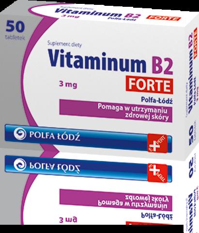 VITAMINUM B2 Forte 3mg x 50 tabletek