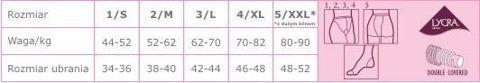 Veera Rajstopy przeciwżylakowe 40 DEN kolor naturalny rozmiar 5 x 1 sztuka