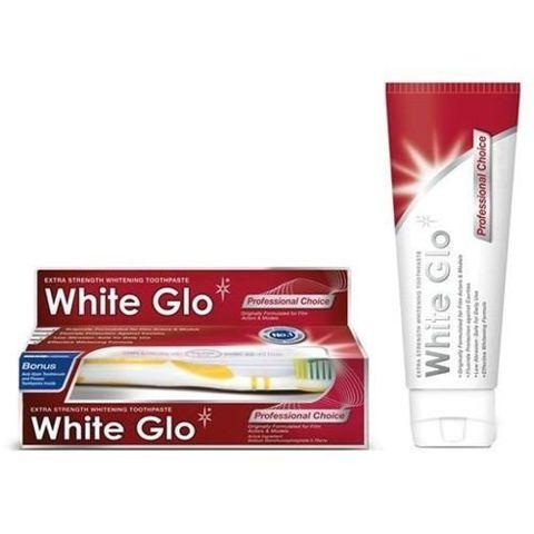 WHITE GLO Professional Pasta do zębów wybielająca 100ml