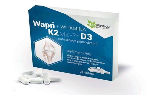 Wapń + K2 + D3 x 30 tabletek