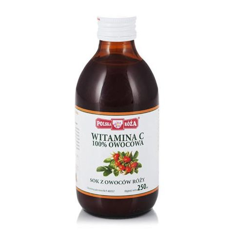 Witamina C 100% sok z róży 250ml
