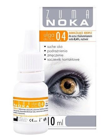 ZUMA NOKA Ulga dla oczu 0,4% krople nawilżające 10ml