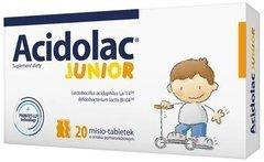 ACIDOLAC Junior x 20 misio-tabletek smak pomarańczowy - data ważności 30-09-2019
