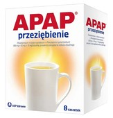 APAP Przeziębienie Hot x 8 saszetek