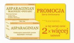 ASPARAGINIAN Magnez i Potas x 100 tabletek