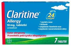 CLARITINE Allergy x 7 tabletek