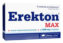 Erekton Max x 8 tabletek - data ważności 05-04-2019r.