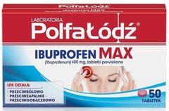 Ibuprofen Max 400mg x 50 tabletek