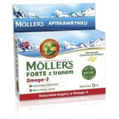 MOLLERS Forte z tranem x 150 kapsułek - data ważności 31-01-2019r.