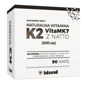 Naturalna Witamina K2 200µg VitaMk7 z NATTO x 90 kapusłek