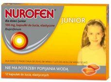 Nurofen dla dzieci Junior 100mg x 12 kapsułek do żucia