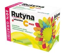 RUTYNA + witamina C max  x 120 tabletek - data ważności 30-09-2019r.