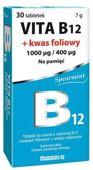 Vita B12 1000mcg + Kwas foliowy 400mcg x 30 tabletek do ssania