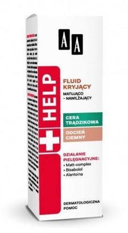 AA HELP Cera trądzikowa fluid kryjący matująco-nawilżający jasny 30ml