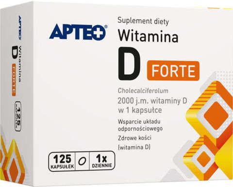 APTEO Witamina D Forte 2000j.m x 125 kapsułek