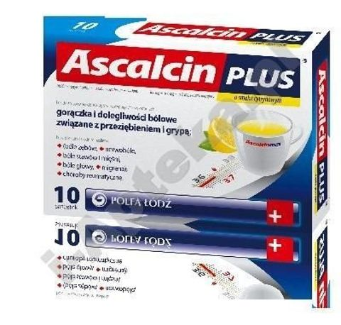 ASCALCIN Plus x 10 sasz. cytrynowy