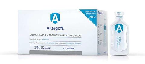 Allergoff Płyn do tkanin neutralizator alergenów 240ml x 12 ampułek