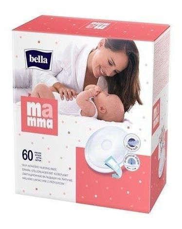 BELLA Mamma Wkładki laktacyjne z przylepcem x 60 sztuk
