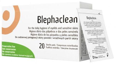BLEPHACLEAN sterylne chusteczki do oczu x 20 szt.