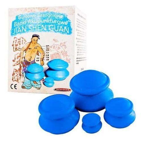 Bańki akupunkturowe chińskie gumowe x 4 sztuki
