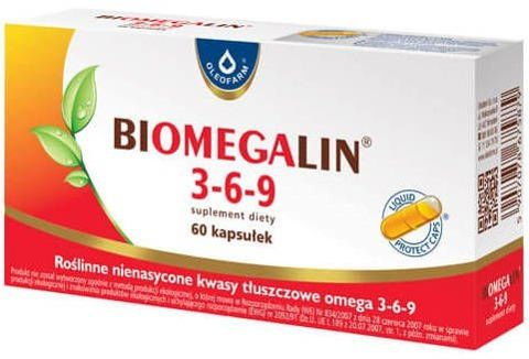 Biomegalin 3-6-9 500mg x 60 kapsułek