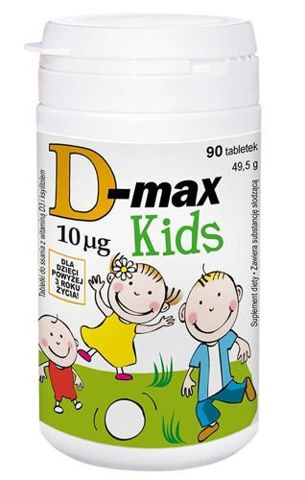 D-Max Kids 10mcg x 90 tabletek do żucia