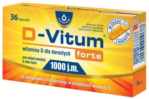 D-Vitum Forte 1000j.m x 36 kapsułek