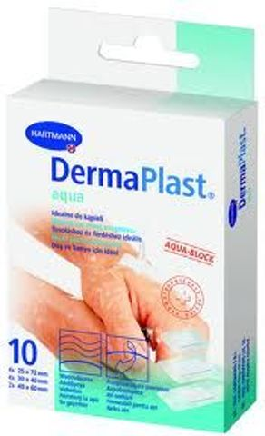 DermaPlast Aqua Plaster 3 rozmiary x 10 sztuk