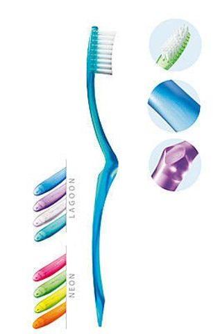 ELGYDIUM Creation Neon szczoteczka do zębów Medium x 1 sztuka