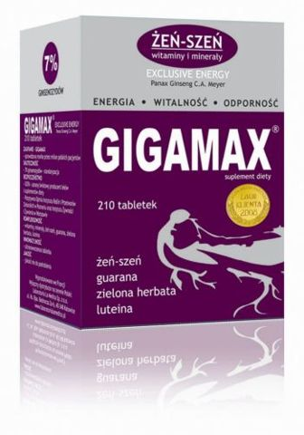 GIGAMAX Exclusive Energy x 210 tabl.