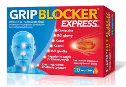 GRIPBLOCKER Express x 20 kapsułek