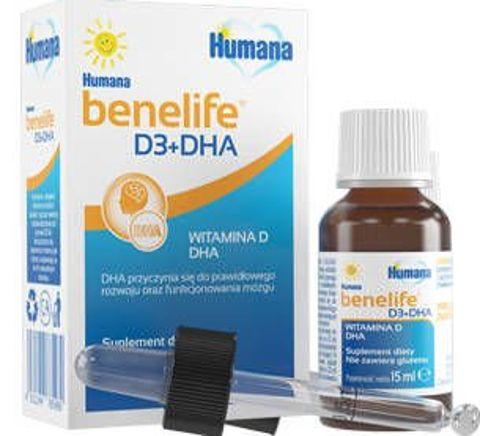 Humana Benelife Witamina D3 + DHA 15ml