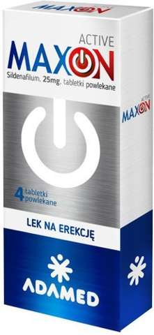 Maxon Active 4 tabletki - lek na erkcję bez recepty