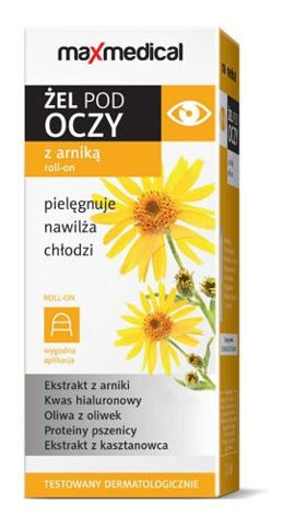 Maxmedical Żel pod oczy z arniką roll-on 15ml