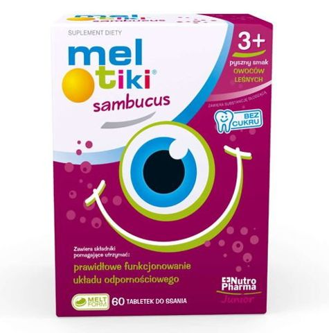 Meltiki Sambucus x 60 tabletek do ssania