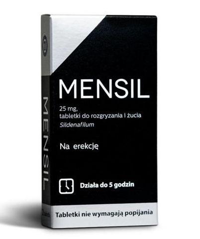 Mensil 25mg tabletki do rozgryzania i żucia x 4 sztuki