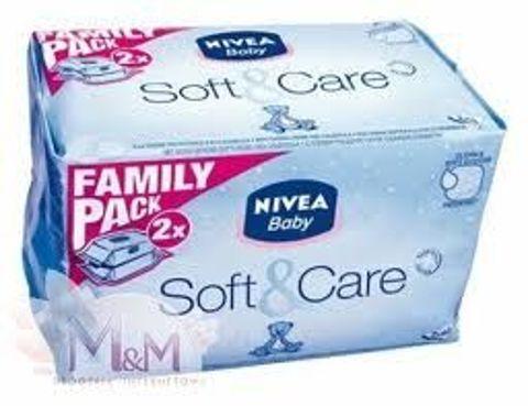 NIVEA BABY Chusteczki Soft&Care 2 x 63 szt.