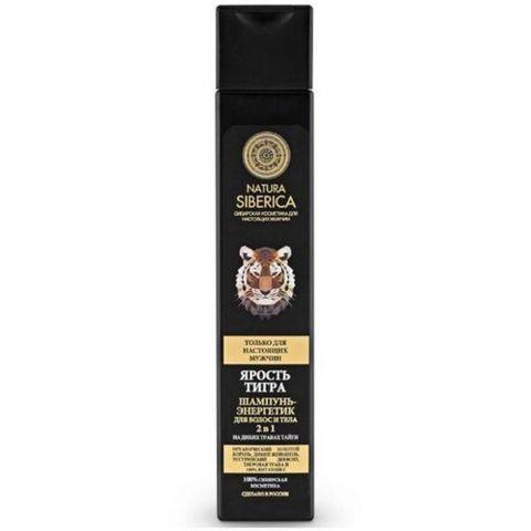 Natura Siberica Men energizujący szampon do włosów i ciała Wściekłość Tygrysa 250ml